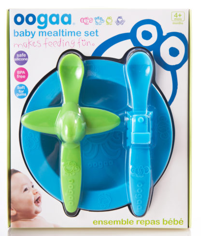 Reillyrooz - Oogaa - blue mealtime set packaged