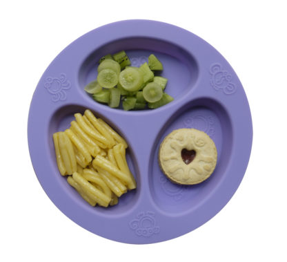 Reillyrooz - Oogaa - divided plate with food purple
