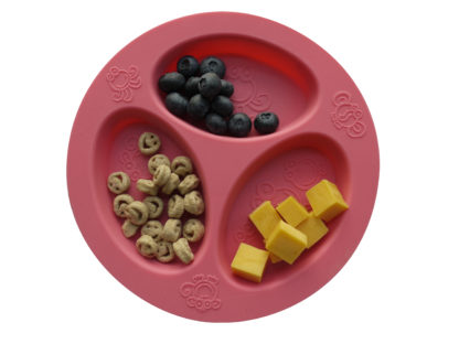 Reillyrooz - Oogaa - divided plate PINK with food